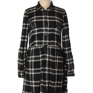 American Eagle Soft Flannel Plaid Shirt Dress